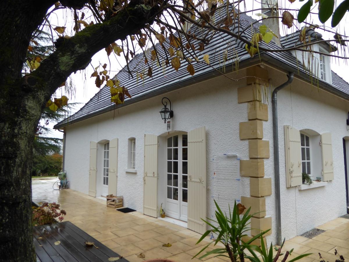Rénovation et extension d'une Périgourdine 2018 : Extérieur -État des lieux