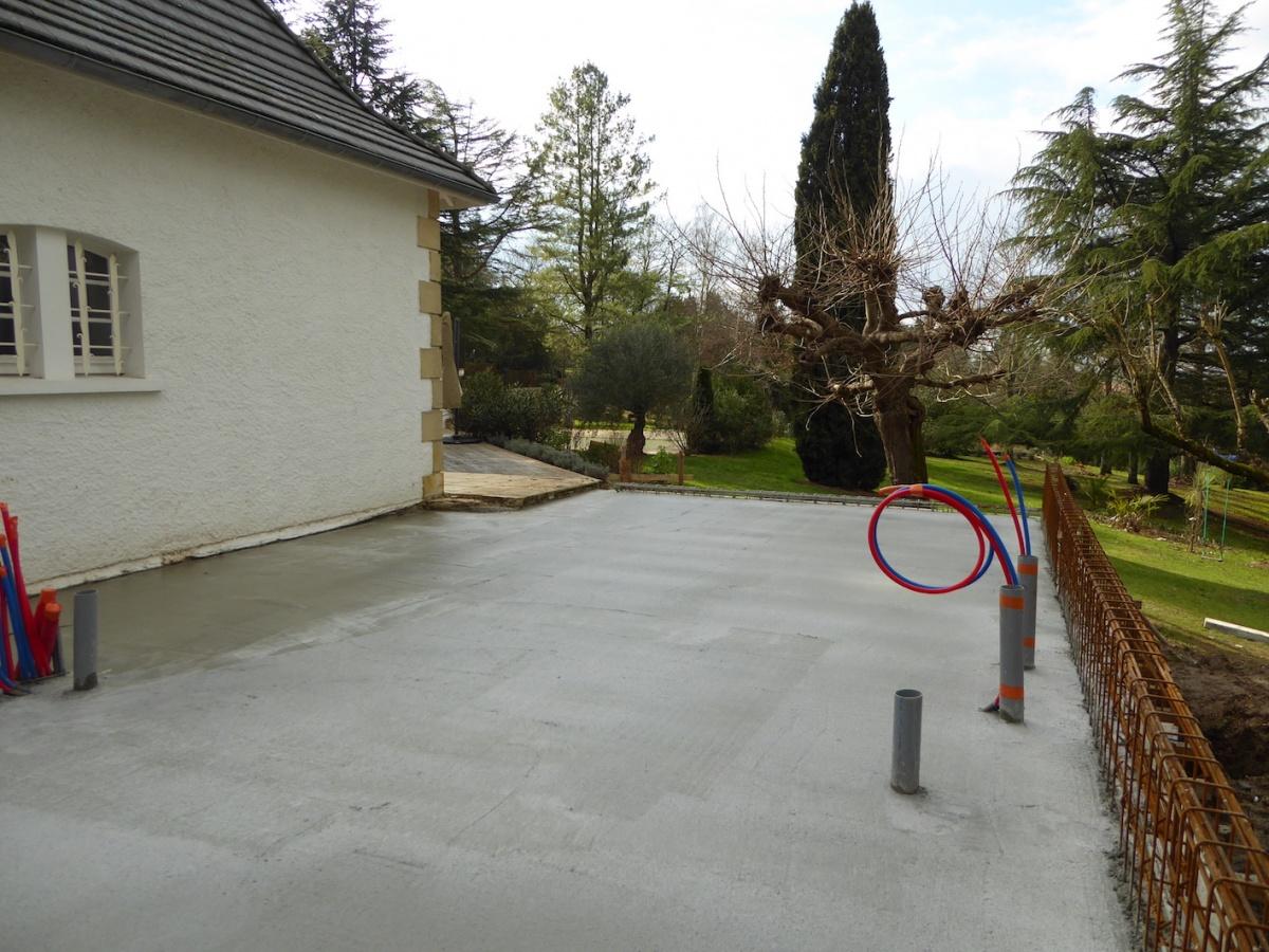 Rénovation et extension d'une Périgourdine 2018 : Chantier - Dalle