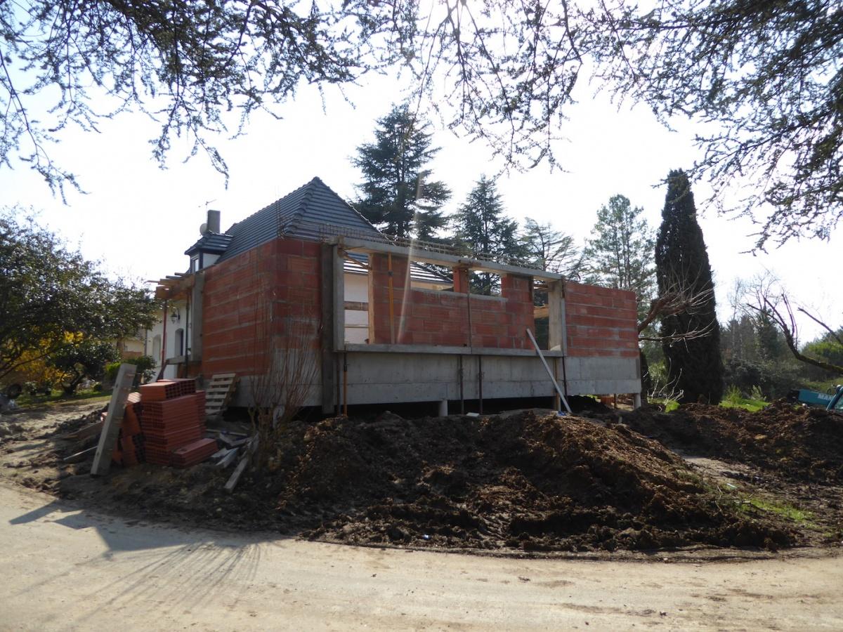 Rénovation et extension d'une Périgourdine 2018 : Chantier - Élévation