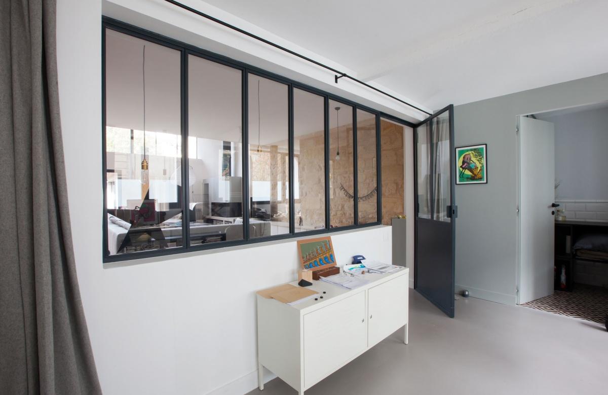 Maison P : Vue bureau atelier