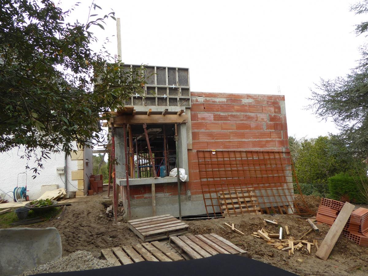 Rénovation et extension d'une Périgourdine 2018 : Chantier - Plancher haut