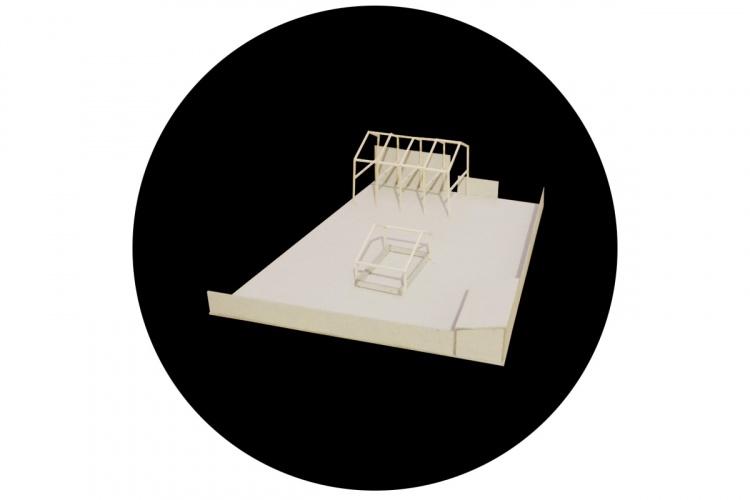 La maison derrière le mur : maquette 1200x800