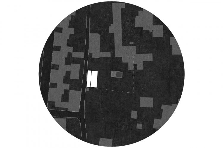 La maison derrière le mur : plan masse 1200x800