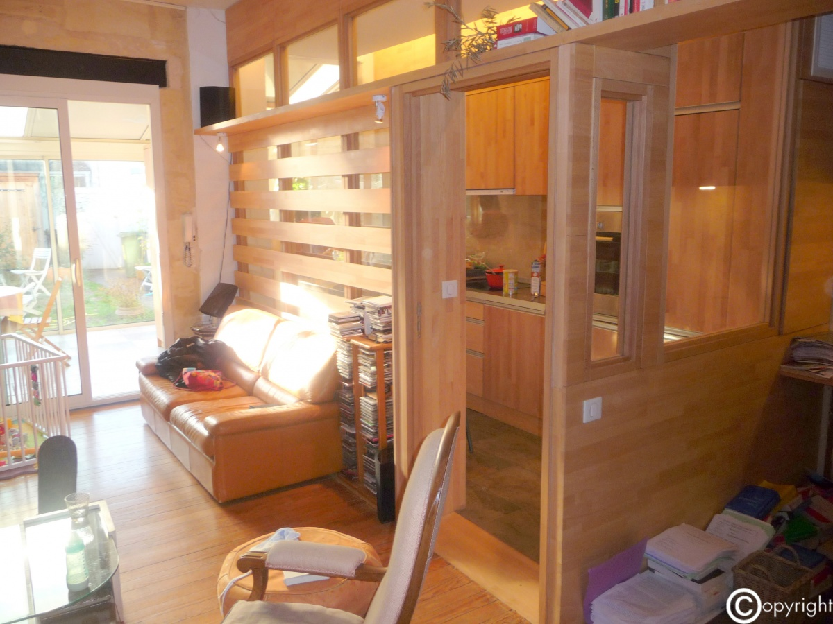 Réaménagement d'un rez-de chaussée d'une maison individuelle