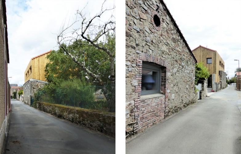 La maison derrière le mur : ruelle