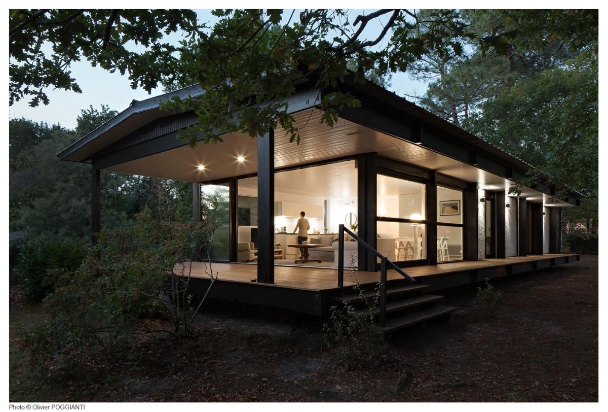 Réhabilitation et extension d'une Maison Boulon en bois