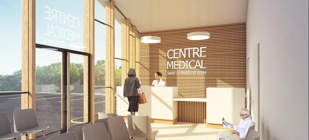 Centre médical du Puch : Perspective intérieure