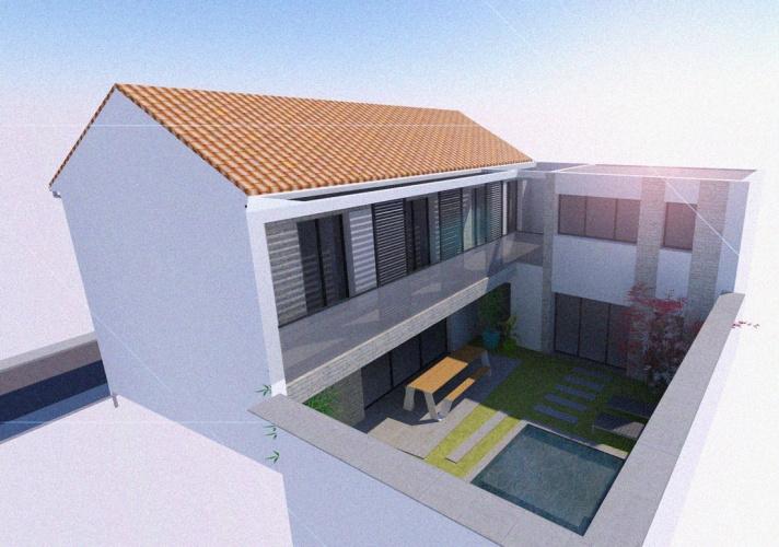 Projet BAL : BORDEAUX-CAUDERAN-rehabilitation-maison-individuelle-extension-surelevation-piscine-8