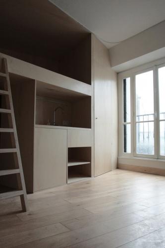 Aménagement d'un studio à Paris