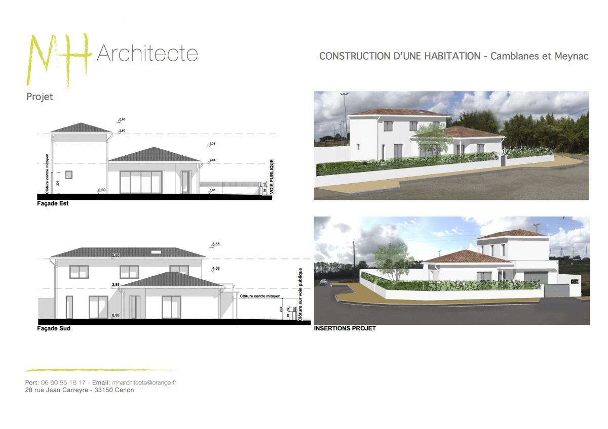Construction d'une maison individuelle - CAMBLANES