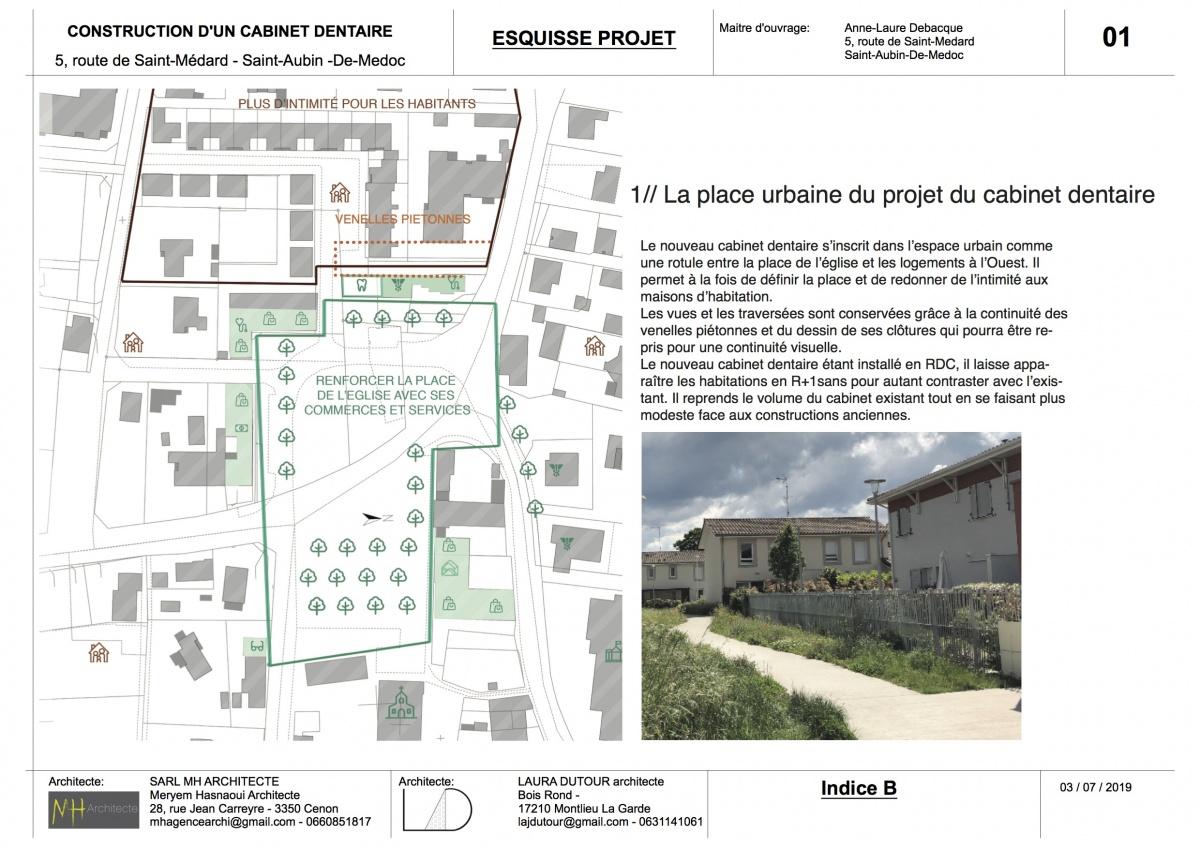 Construction d'un espace médical - ST AUBIN DE MEDOC : 03 RENDU MAIRIE st aubin