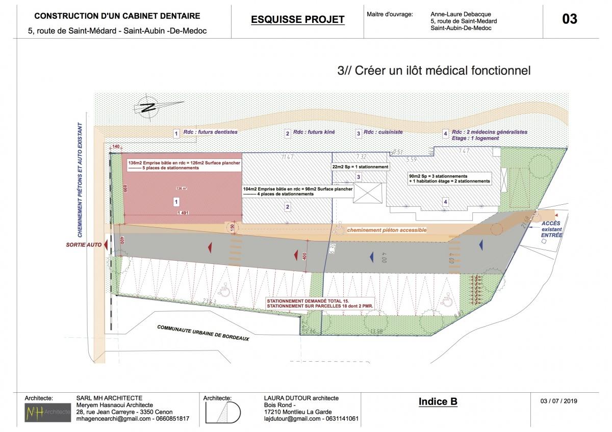 Construction d'un espace médical - ST AUBIN DE MEDOC : 05 RENDU MAIRIE st aubin