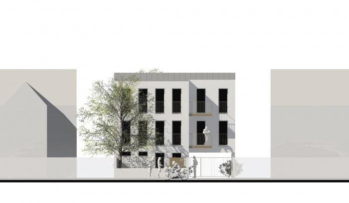 Petit immeuble de logements : Fac-Rue