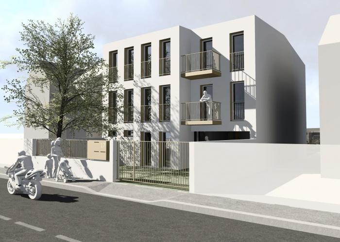 Petit immeuble de logements : Vue-Rue