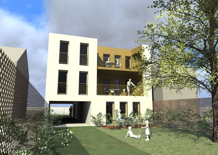 Petit immeuble de logements : Vue-Jardin
