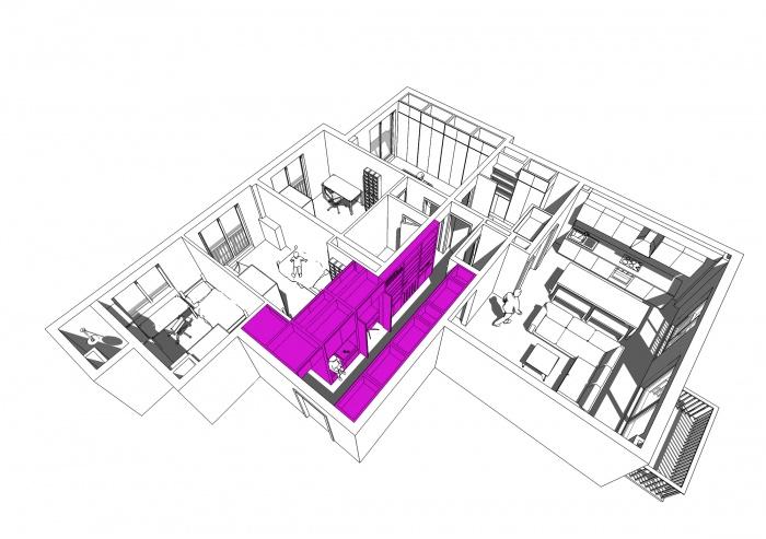 Rénovation d'un appartement : axo1