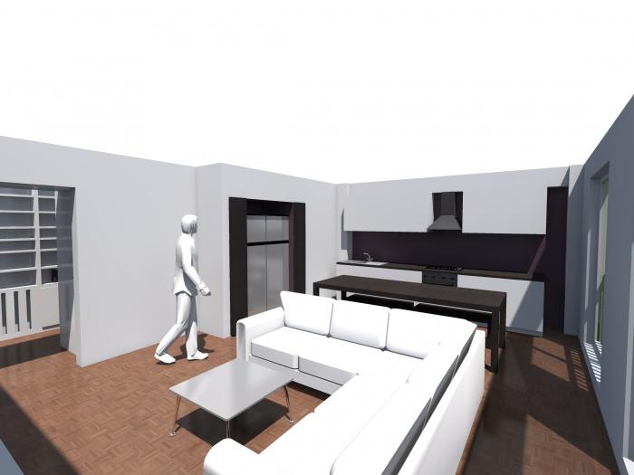 Rénovation d'un appartement : Pers Salon