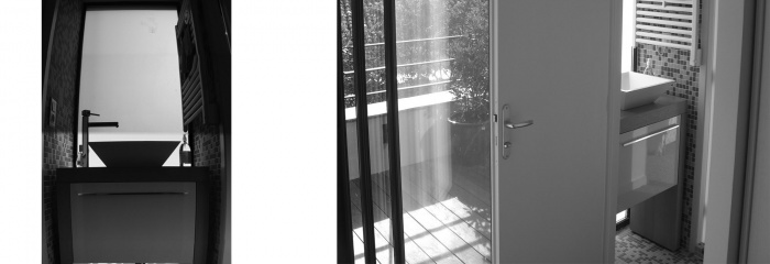 Surélévation d'une échoppe : salle de bain terrasse