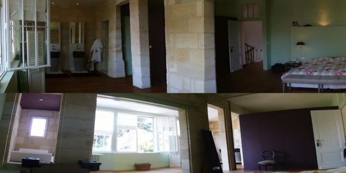 Réhabilitation d'une maison en pierre : nouvelle chambre sdb