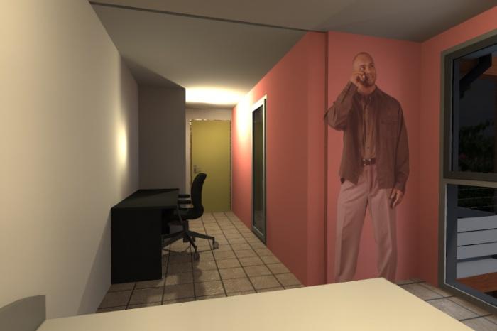 Maison Container : Vue Chambre3-ango