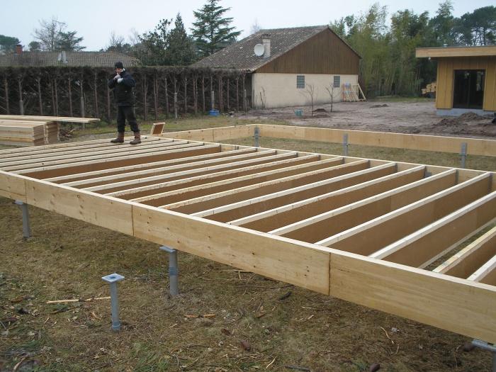 Architectes a l 39 or e du bois parentis en born - Construire un plancher bois ...