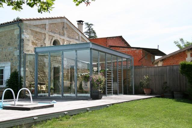 Architectes extension vitr e lignan de for Amiante maison ancienne