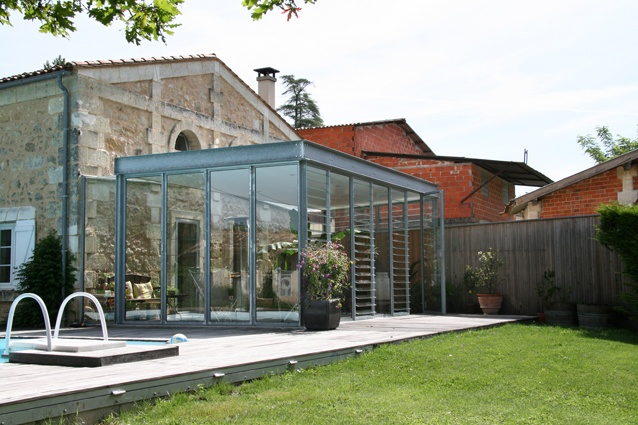 Architectes extension vitr e lignan de for Extension vitree