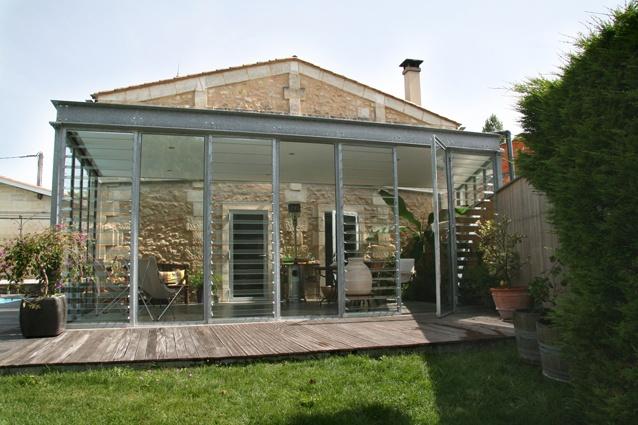 Architectes-bordeaux.com - Extension vitrée - Lignan-de-Bordeaux