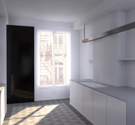 Rénovation d'un appartement : cielarchi-59T-b2-cuisine