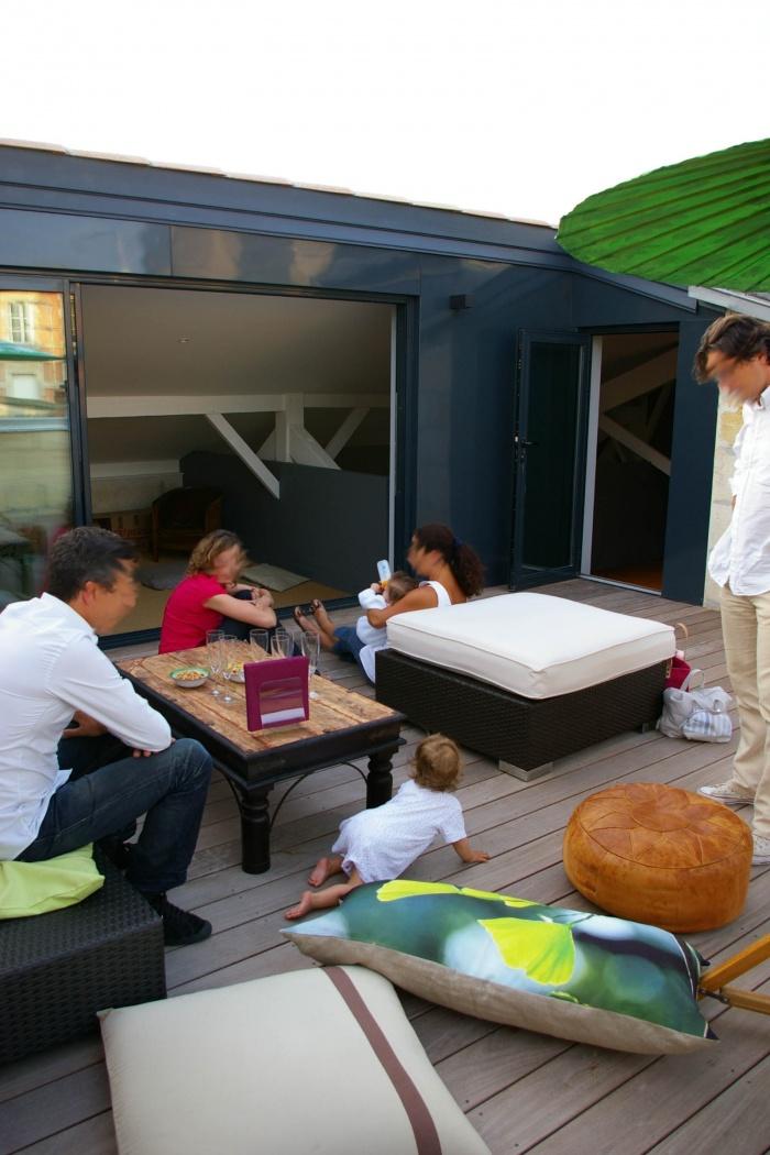 Réaménagement d'un appartement et création d'une terrasse : 57- 020