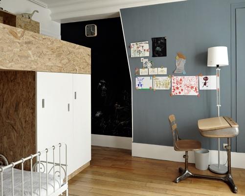 Chambre pour deux enfants en OSB : cielarchitectes-02J-chambre-2