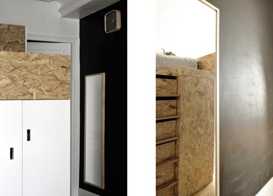 Chambre pour deux enfants en OSB : cielarchitectes-02J-chambre-20