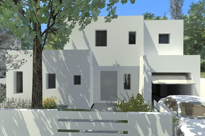 maison pudote saint aubin de m doc une r alisation de fr d ric etcheberry architecte dplg. Black Bedroom Furniture Sets. Home Design Ideas