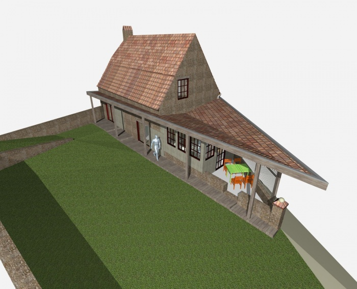 R habilitation d 39 une grange en habitation paunat - Rehabilitation d une grange en habitation ...