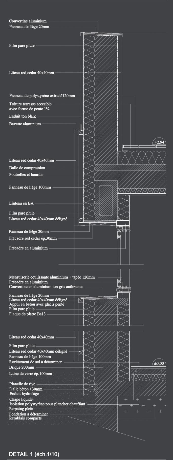 Maison contemporaine basse consommation : 09 Détail copie
