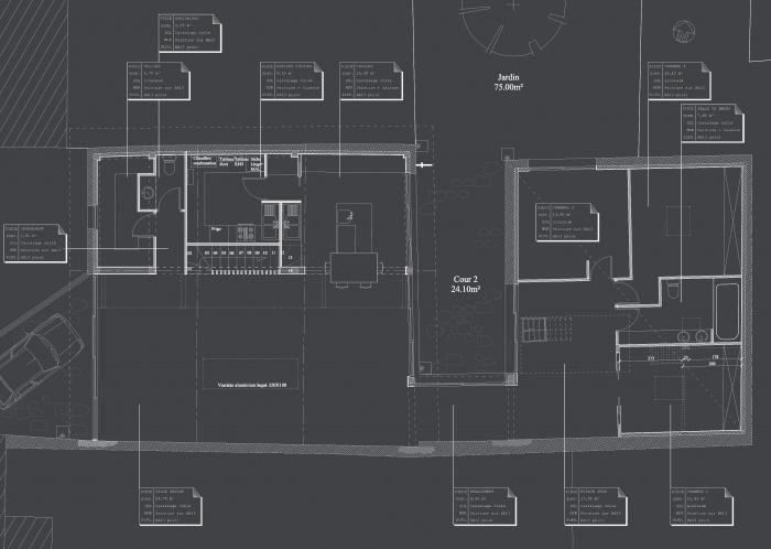 Hangar réhabilité en maison familiale : 01 Plan RDC copie