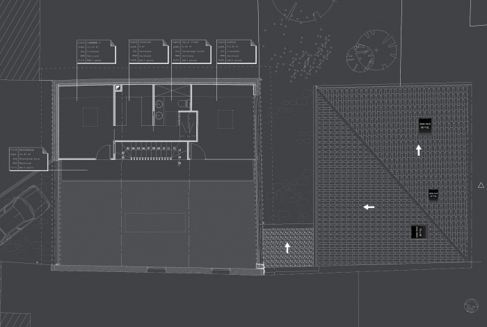 Hangar réhabilité en maison familiale : 01 Plan R+1 copie