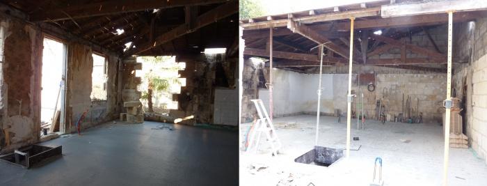 Hangar réhabilité en maison familiale : echoppe 2