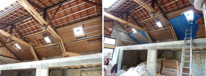 Hangar réhabilité en maison familiale : Isolation copie