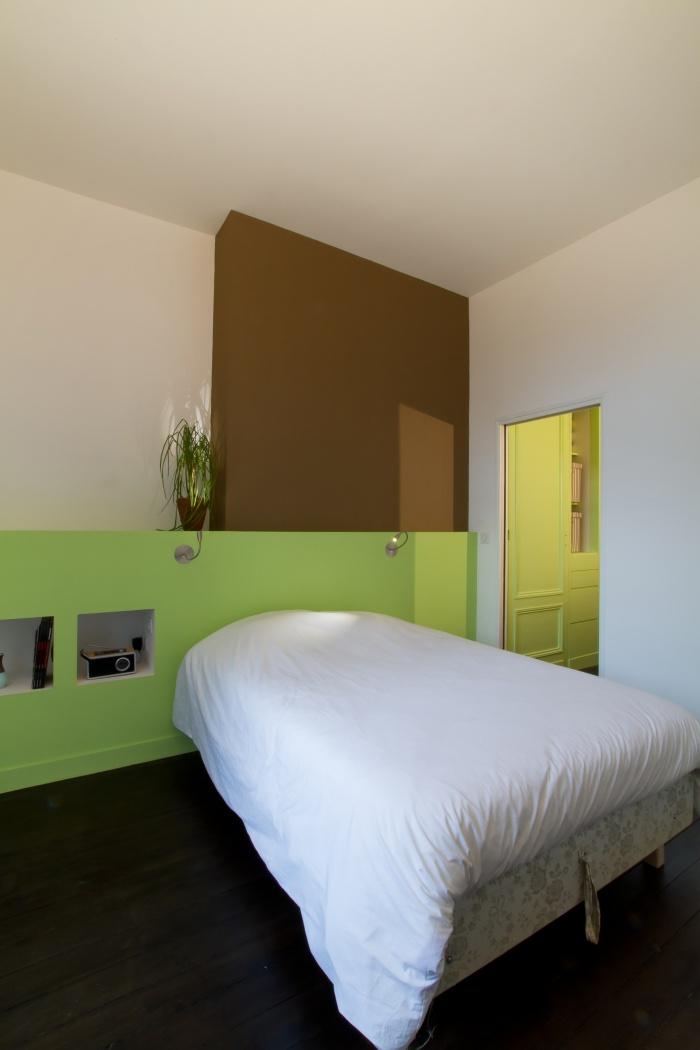 Réaménagement et rénovation d'un appartement : Vue de la chambre