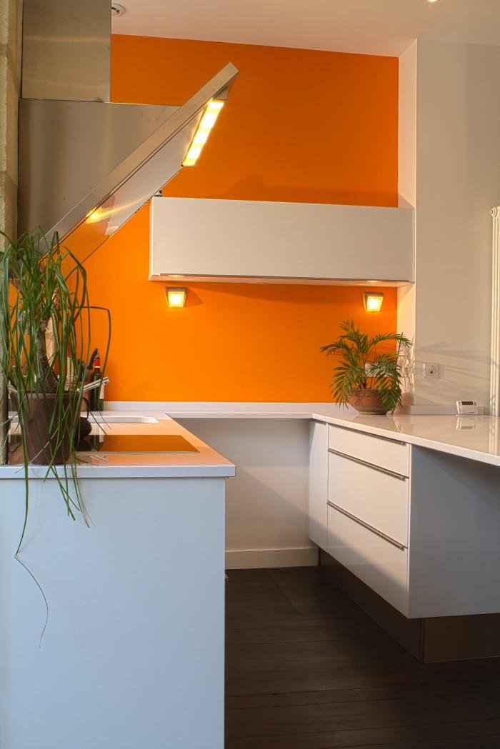 Réaménagement et rénovation d'un appartement : Vue de la cuisine