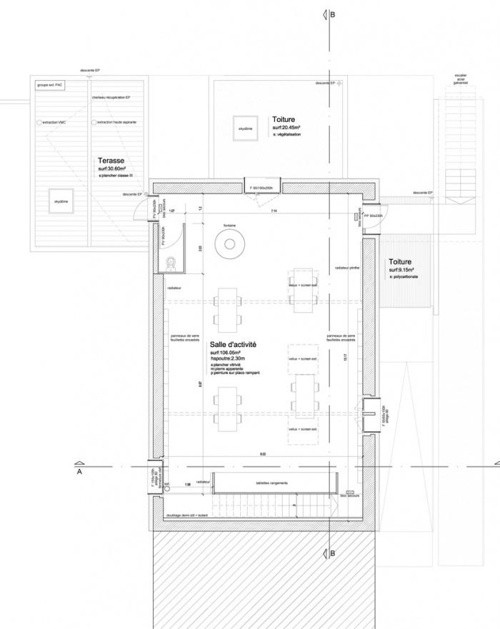 Maison des Associations : Etage