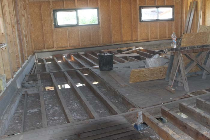 Sur l vation en ossature bois pessac une r alisation for Realisation plancher bois etage