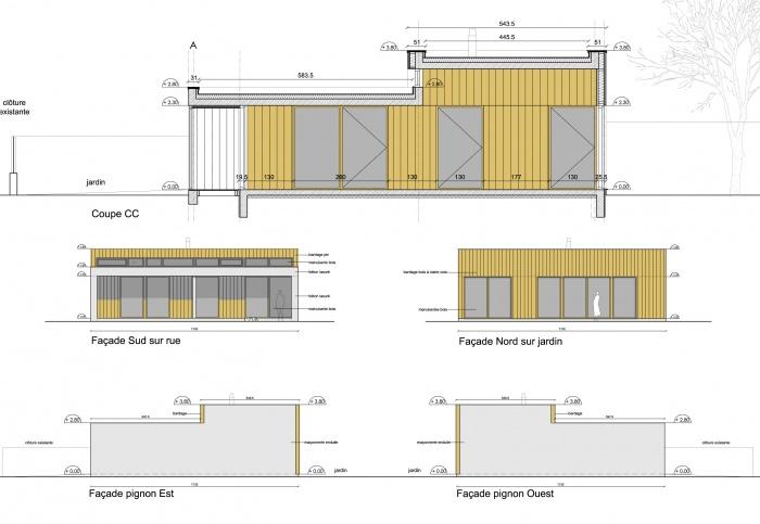 Maison à Pessac - Prix Agora 2014 : FACADES