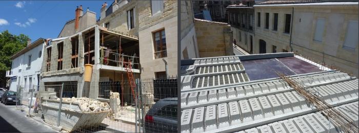 Surélévation parpaing bois pierre : 02 Murs maçonnés et plancher