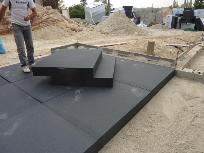Architectes 02 ossatures bois construction bois passif ec - Dalle beton gravillonnee 50x50 ...