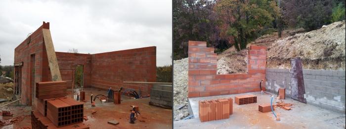 PASSIF ECOLOGIQUE CONTEMPORAIN : 10 mur brique garage et soutenement