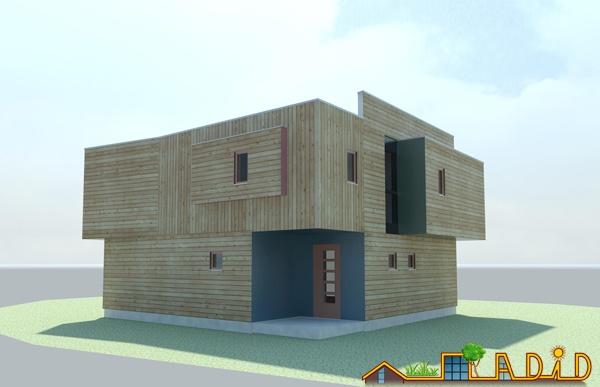 La maison               'Coin au soleil' : Perspective arrière Nord