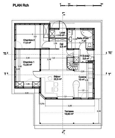 Maison individuelle            à Jouhet : Plan RdC