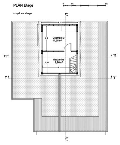 Maison individuelle            à Jouhet : Plan Etage